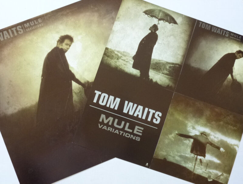 "TOM WAITS ""MULE VARIATIONS"" 2-SIDED U.S. PROMO POSTER/FLATS- Rock & Experimental"