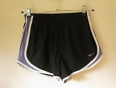 NIKE Black White Blue Running Shorts Size M