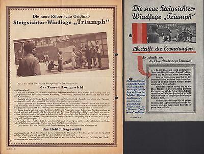 """WUTHA THÜR., Werbung 1931 für Steigsichter-Windfege """"Triumph"""", Gebr. Röber GmbH"""