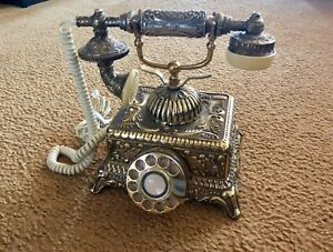 Corded Antique Rotary Phone - Grand Emperor Style