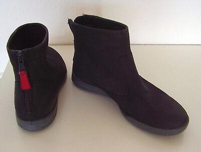 Damen ECCO Stiefelette Stiefel Boots Gr. 37 Schwarz Wildleder neuwertig Gr. 4