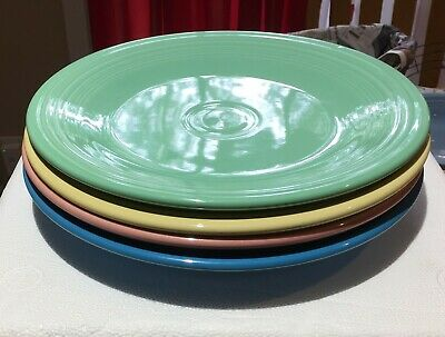 Fiestaware Set Of 4 Dinner Plates Mixed Colors
