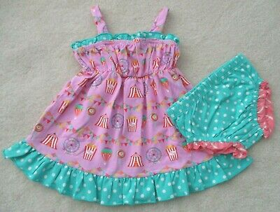 MATILDA JANE Girl's Size 12-18 Months ~ SUCH A CIRCUS DRESS w/BLOOMERS~ NWT