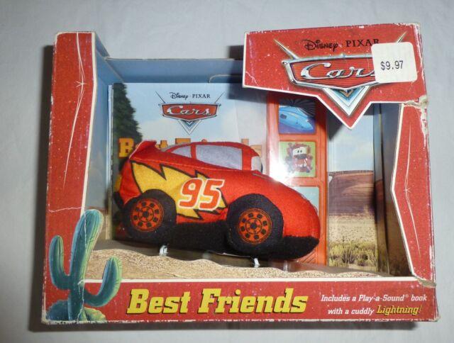 disney pixar cars best friends play a sound book with plush lightning mcqueen - Disney Cars Books
