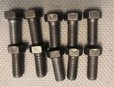 Hastelloy C276 Bolts 58 X1.5 Lot Of 10 Bolts