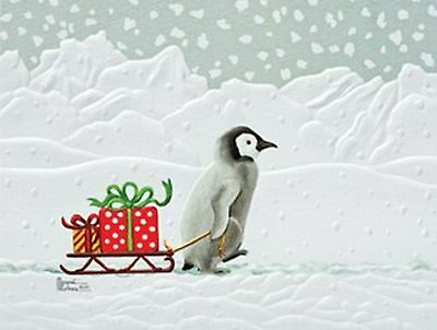 Pumpernickel Press Gifted Penguin Penguin  CHRISTMAS CARDS   USA