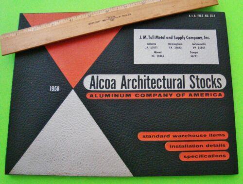 1958 ALCOA ALUMINUM ARCHITECTURAL STOCKS DEALER SPIRAL CATALOG 110-pgs ILLUSTR