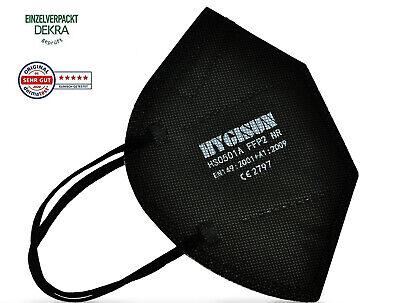 FFP2 Maske Mundschutz Atemschutzmaske Schutzmaske schwarz HYGISUN 6-er Pack