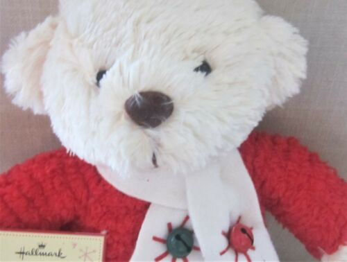 Hallmark JINGLE BEAR Plush with Red Sweater Scarf Bells  Jingle Bell Song