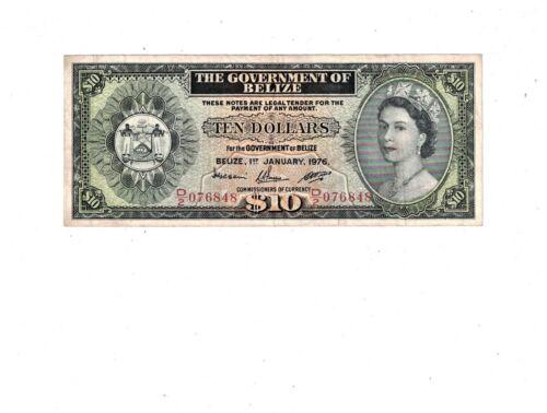 BELIZE  1976  10 DOLLARS  PB2