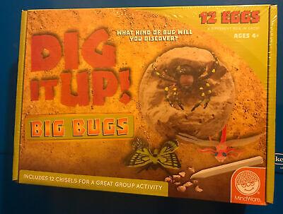 MindWare Dig It Up! Big Bug Stones Excavation kit New Sealed (T371)