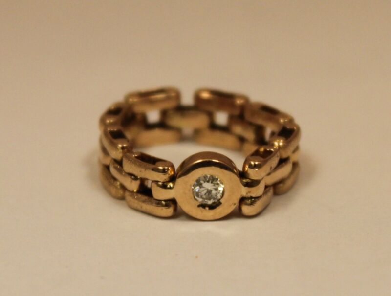 Vintage Estate .15ct SI G-H Color 18k Solid Yellow Gold Ring
