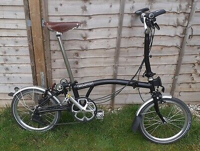 Brompton M6L 2018 Folding Bike +Brooks saddle,  Carradice Bag & Rear rack
