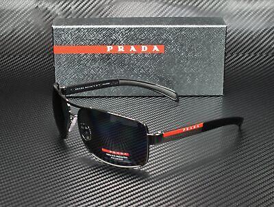 PRADA LINEA ROSSA PS 54IS 5AV5Z1 Gunmetal Polarized Gray 65 mm Men's Sunglasses