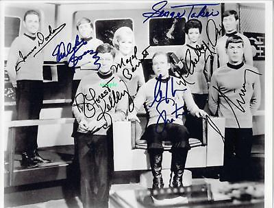 STAR TREK CAST REPRINT SIGNED 8X10 PHOTO AUTOGRAPHED PICTURE CHRISTMAS GIFT ()