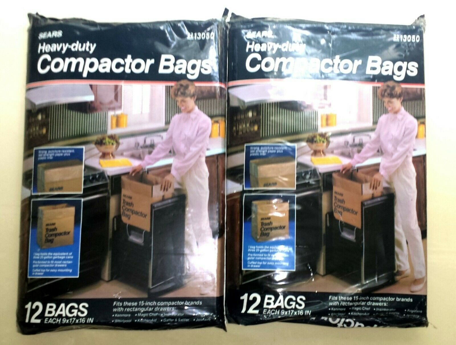 Lot of New Unopened Sears Trash Compactor Bags 2 Packs of 12