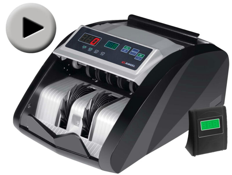 NEW MONEY BILL CASH COUNTER BANK MACHINE COUNT CURRENCY 1 Year Warranty