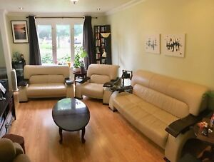 ***Sofa set 3-piece. Italian Leather/design***