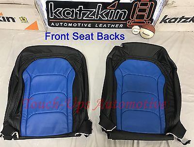 2016-2019 Chevrolet Camaro Coupe LS RS SS Custom KATZKIN Cobalt Blue Leather