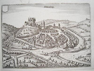 Ortenberg Wetterau Hessen seltener echter alter Merian Kupferstich  1646