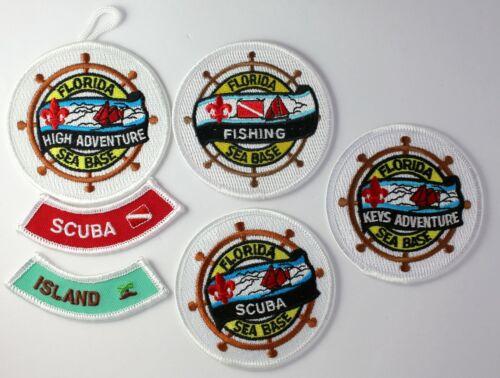 Florida Sea Base Activity Patch Lot w/ Rockers - Boy Scouts of America