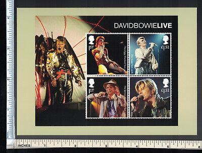 David Bowie Post Card  David Live Stamps  Royal Mail Postcard  Uk Postage Promo