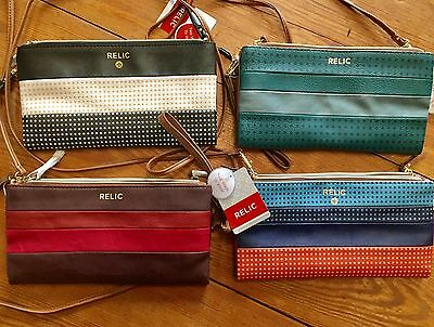 Relic Emma Collection Convertible Wristlet   Crossbody Stripes   Assorted  New