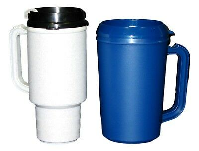 1 Granite Coffee Cup Mug and 1 Navy Insulated Cool Cup Mug Made in America  (Coffee Mugs In Bulk)