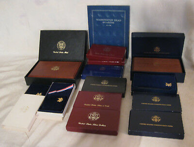 - Coin Collector or Dealer Lot of U.S. Mint Display Boxes, Album, Assorted Tubes