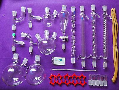 New Lab Chemistry Glassware Kitlaboratory Glassware Set With 2429 Joints