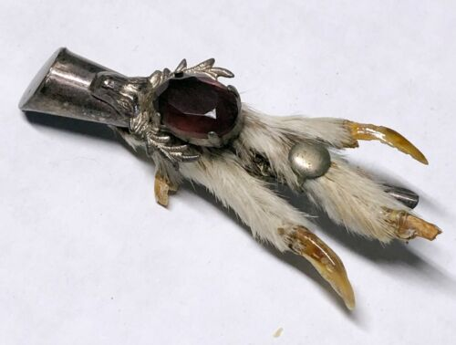 Vintage Victorian Scottish Celtic Grouse Foot Stag Friendship Lucky Brooch Pin