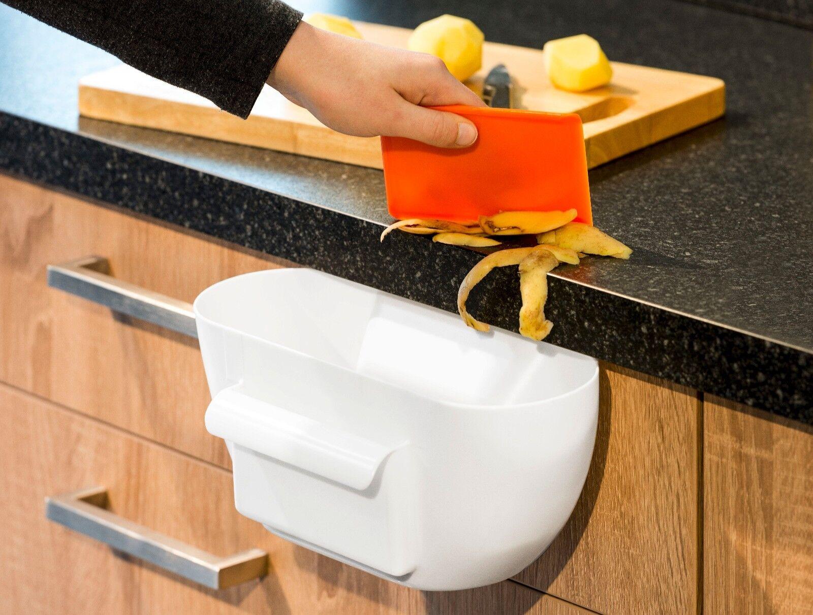 Küchenabfallbehälter Abfallbehälter Mülleimer Abfallsammler weiß NEU Küche