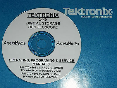 Tek 2440 Manual Set Service Ops Programer 4 Vols