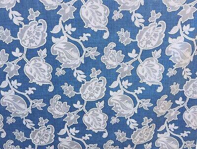 Drapery Upholstery Fabric Blue Grey Magnolia Home Fashions ARABELLA YACHT Cotton