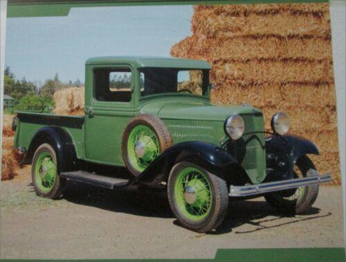 1932 Ford Model A Pickup truck print  (green & black)