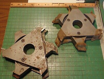 Lot Of Molding Shaper Cutters 1-14 Bore Profile Woodworking