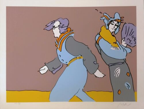 """Peter Max """"a Long Time Ago"""" 1978   Rare Hand Signed Print   Others Avail Gallart"""