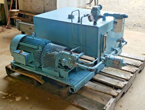 Hydraulic Power Unit, Pump and Reservior, 10 HP, 30+/- Gallons Tank