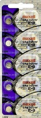 377 MAXELL WATCH BATTERIES SR626SW (5 piece) SR626 V377 SR66 New AuthorzedSeller