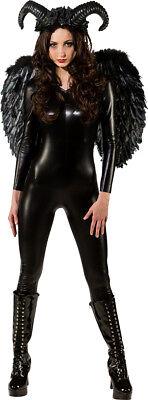 schwarze Fee Fantasy Fairy Black Mystic  Kostüm   Fasching Karneval Gr. 34-36-38 ()
