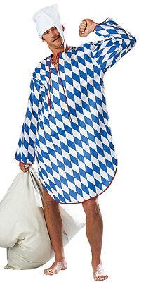 blau weißes bayerisches Nachthemd Größe XL Schlafanzug Karneval - Weißen Nachthemd Kostüm