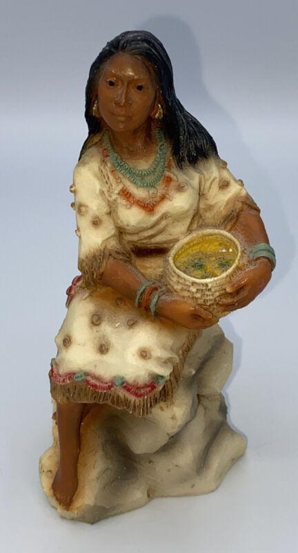 Castagna Native American Pocahontas Ground Alabaster Figurine 1990