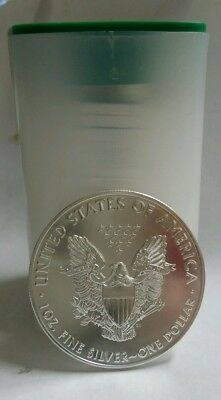 Roll of 20 2016 1 oz Silver American Eagle Coins BU Lot Tube of 20 .999