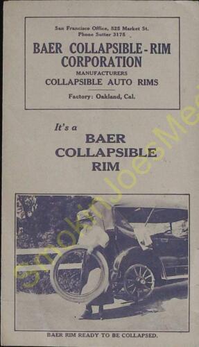 Vintage Advertisement Baer Collapsible Rim Corporation Oakland CA Brochure