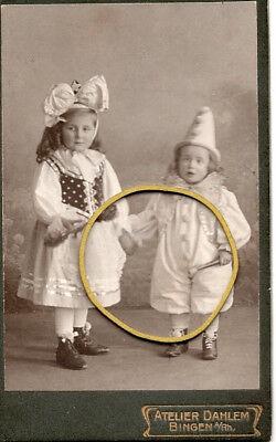 Bingen am Rhein, 2 kleine Mädchen im Kostüm, Fasching, Karneval, CDV, ca. 1900