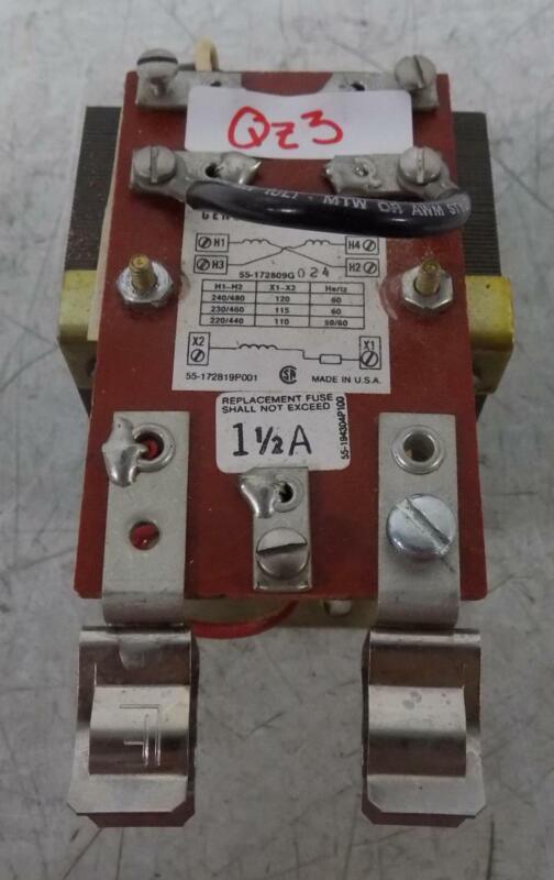 GENERAL ELECTRIC 240/480V 50/60HZ TRANSFORMER 55-172809G