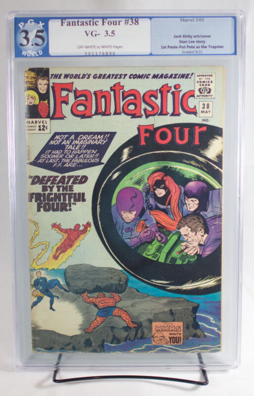 FANTASTIC FOUR #38 (Marvel 1965) PGX 3.5 VG-Very Good Minus - FRIGHTFUL FOUR!!!