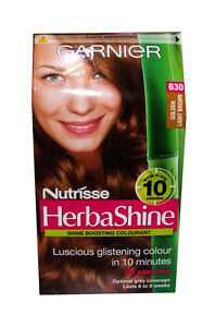 GARNIER NUTRISSE HERBA SHINE HAIR COLOUR CREAM 630 GOLDEN LIGHT BROWN