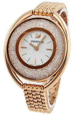Swarovski Crystalline 1700 Crystals Oval Rose Gold Steel Women Watch 5200341 New