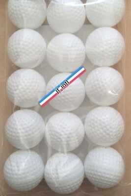 15 PC Hard White Plastic GOLF Size Balls Practice For PGA Game STRONG New Pack!